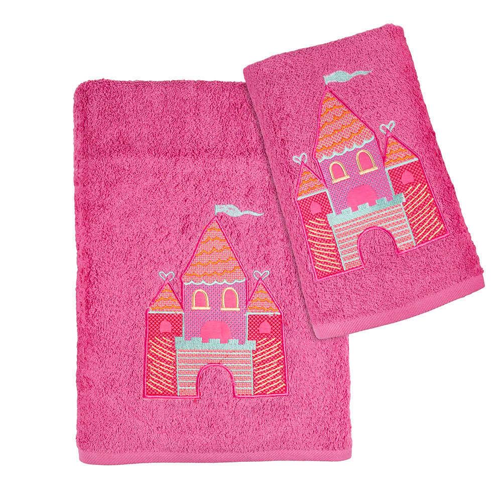 Πετσέτες Παιδικές Σετ 2Τμχ. Σε Κουτί Fuchsia Astron Σετ Πετσέτες