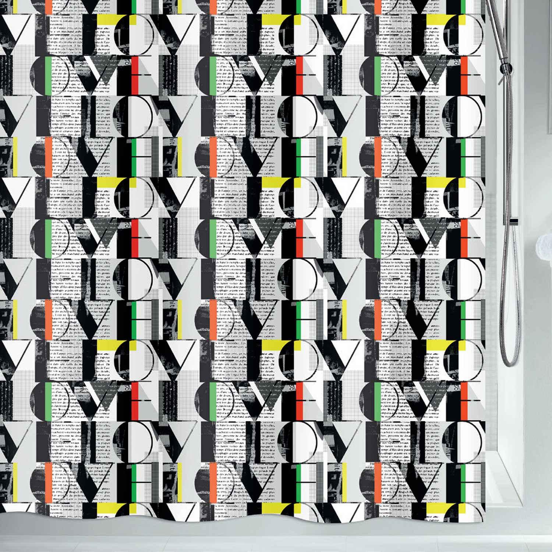 Κουρτίνα Μπάνιου Pop Love 02188.001 Multi 180X200cm Spirella Φάρδος 180cm 180x200cm