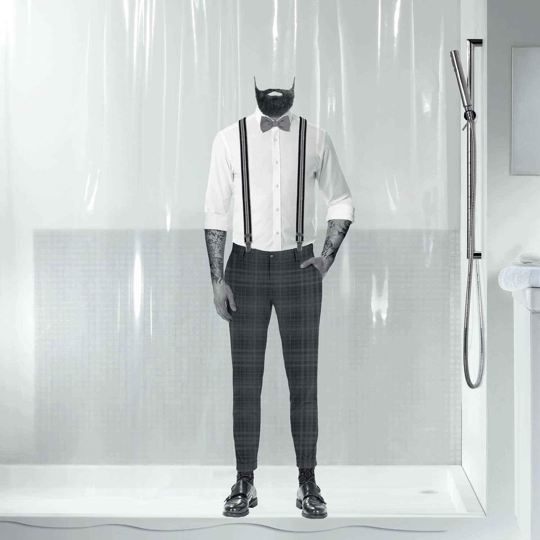 Κουρτίνα Μπάνιου Dandy 00801.001 Black 180X200cm Spirella Φάρδος 180cm 180x200cm