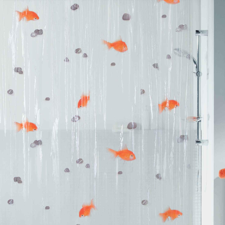 Κουρτίνα Μπάνιου Goldfish 01024.001 Orange 180X200cm Spirella Φάρδος 180cm 180x200cm