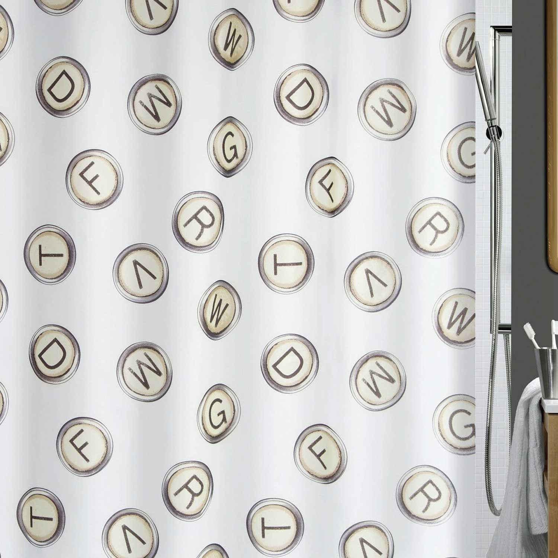 Κουρτίνα Μπάνιου Olivetta 00830.001 Ivory Spirella Φάρδος 180cm 180x200cm