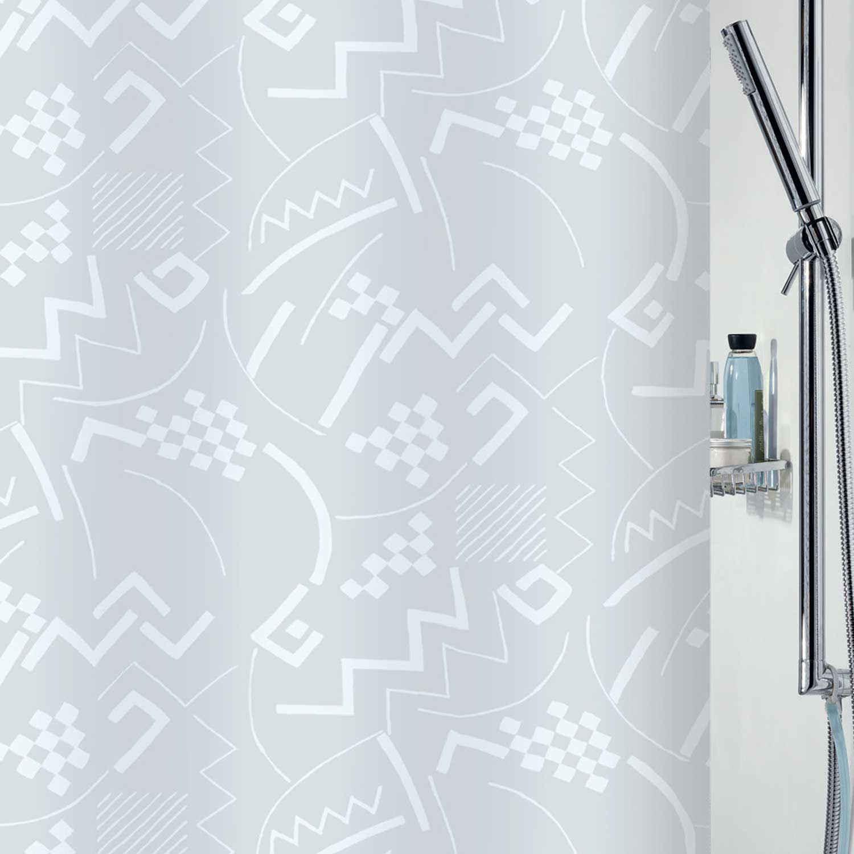 Κουρτίνα Μπάνιου Talia 00866.001 White 180X200cm Spirella Φάρδος 180cm 180x200cm