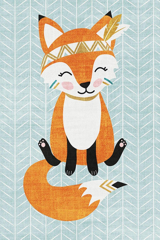 Χαλί Ezzo Playtime Fox KD55 Turkuaz 160X230