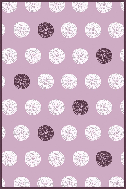 Χαλί ΒΑΜΒΙΝΟ Dots A653AXY Pink Pink-White Ezzo 140X200