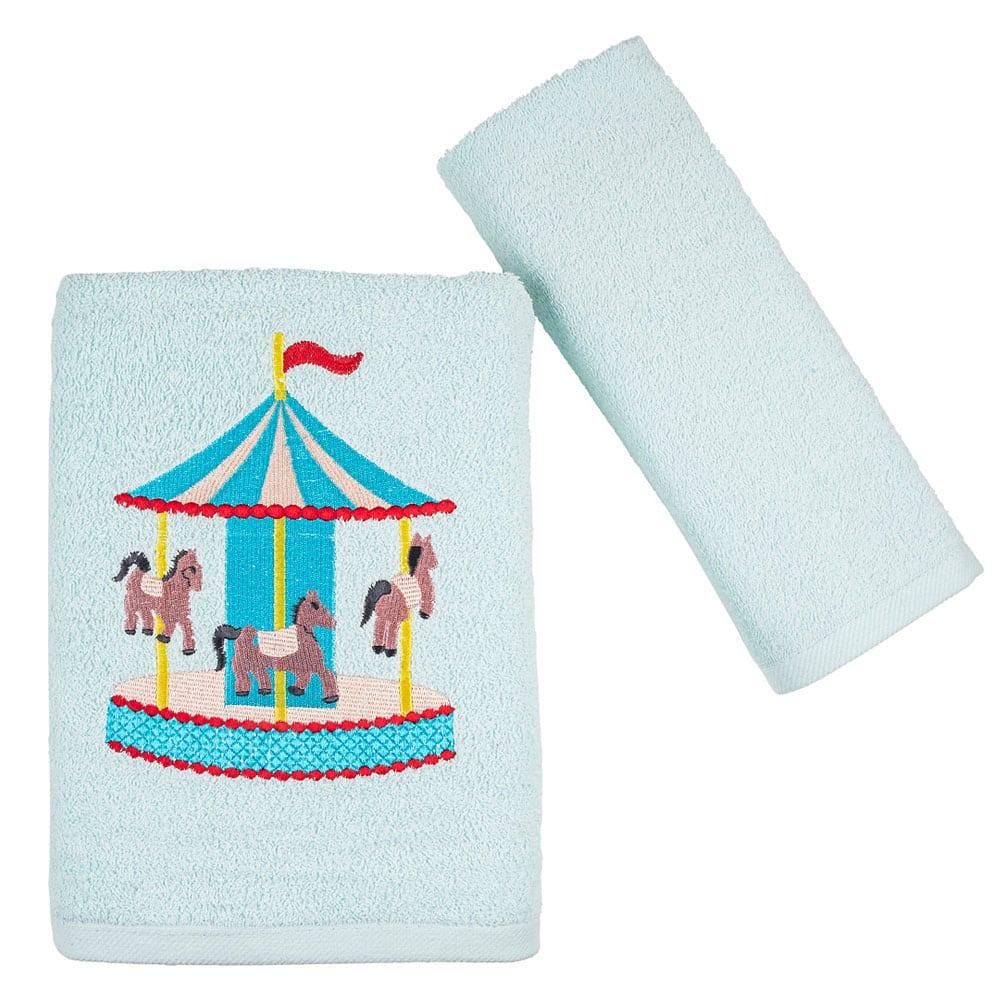 Πετσέτες Παιδικές Luna Park Σετ 2τμχ Ciel Astron Σετ Πετσέτες
