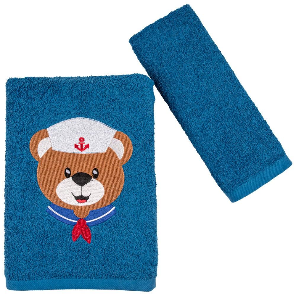 Πετσέτες Παιδικές Navy Bear Σετ 2τμχ Astron Σετ Πετσέτες
