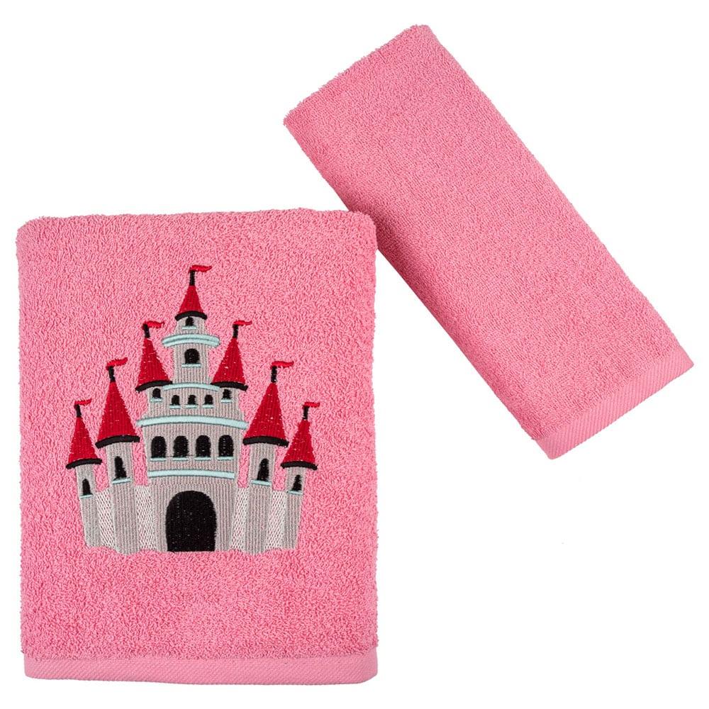 Πετσέτες Παιδικές Castle Σετ 2τμχ Fuchsia Astron Σετ Πετσέτες
