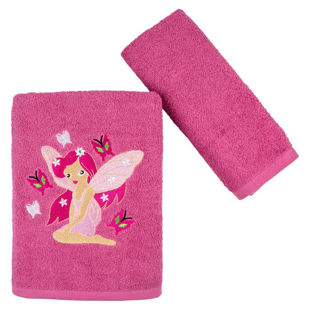 Πετσέτες Παιδικές Farytail Σετ 2τμχ Fuchsia Astron Σετ Πετσέτες