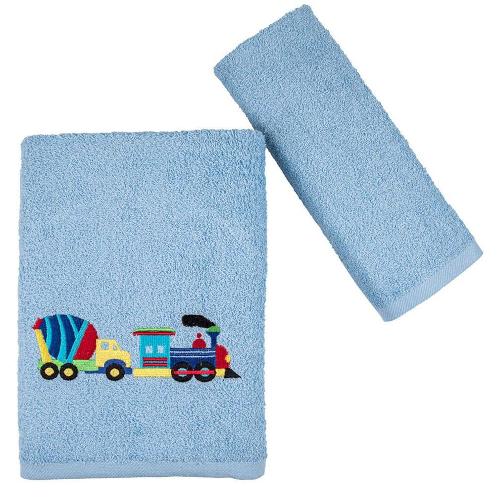 Πετσέτες Παιδικές Truck Σετ 2τμχ Light Blue Astron Σετ Πετσέτες