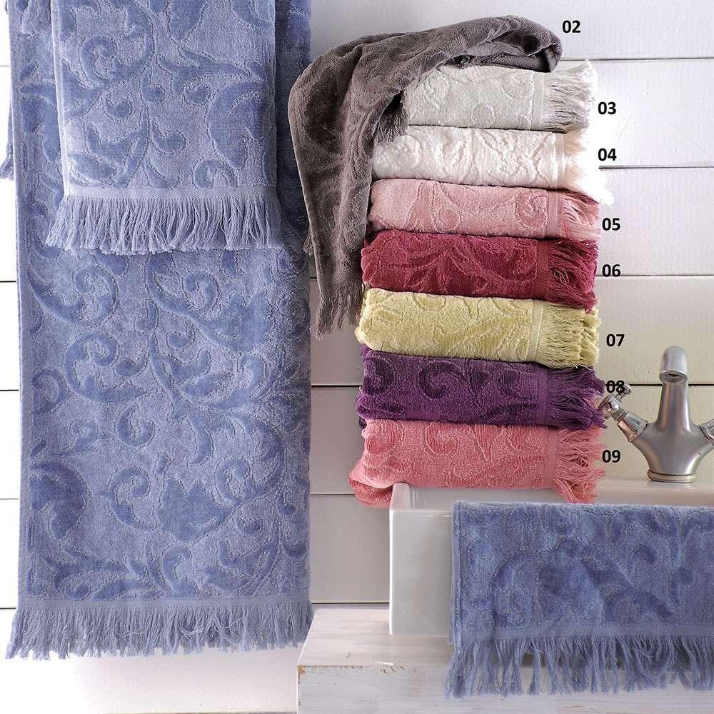 Πετσέτες Σετ 3τεμ Sienna 01 Μπλέ Ρυθμός Σετ Πετσέτες