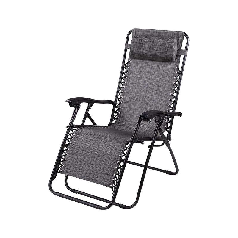 Καρέκλα Αναδιπλούμενη Zero 65x175x110cm Grey 327-00-092