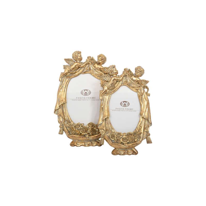 Κορνίζα Αγγελάκια 13x18cm Gold 1-272-92-061 Etiquette Polyresin