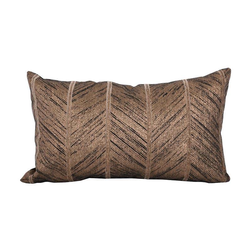 Μαξιλάρι Διακοσμητικό (Με Γέμιση) Brown-Bronze 1-382-92-020 Etiquette 30Χ50 Ύφασμα
