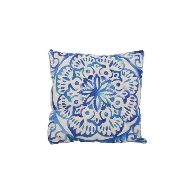 Μαξιλάρι Διακοσμητικό (Με Γέμιση) Σχ. 18530 Blue Etiquette 45X45 Ύφασμα