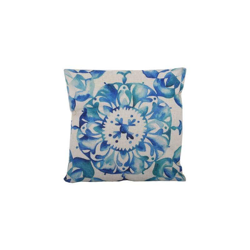 Μαξιλάρι Διακοσμητικό (Με Γέμιση) Σχ. 18531 Blue Etiquette 45X45 Ύφασμα