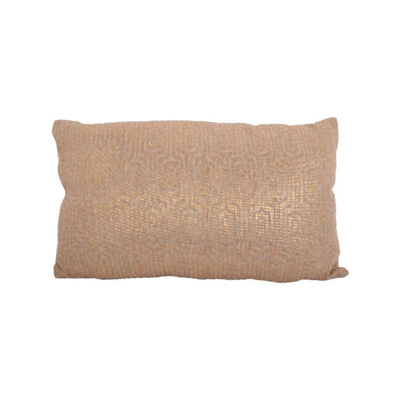 Μαξιλάρι Διακοσμητικό (Με Γέμιση) Khaki-Gold 1-382-92-023 Etiquette 30Χ50 Ύφασμα