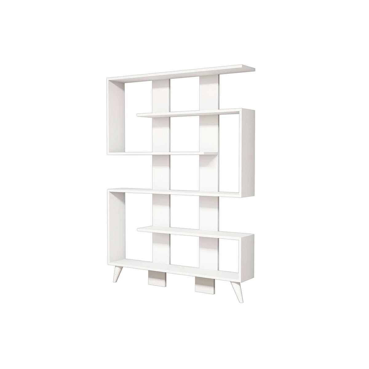 Βιβλιοθήκη Jane Λευκή 120X22X164Cm 055-000130