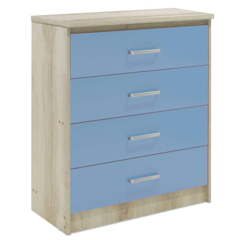 Συρταριέρα Παιδική Looney Με 4 Συρτάρια Castillo-Μπλε 80X40X95Cm 123-000078