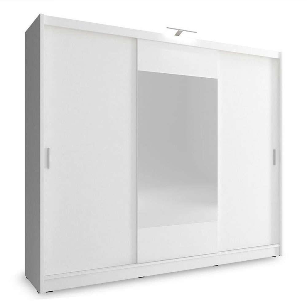 Ντουλάπα Wiki 081-000057 Λευκό 250x62x214cm Δίφυλλη