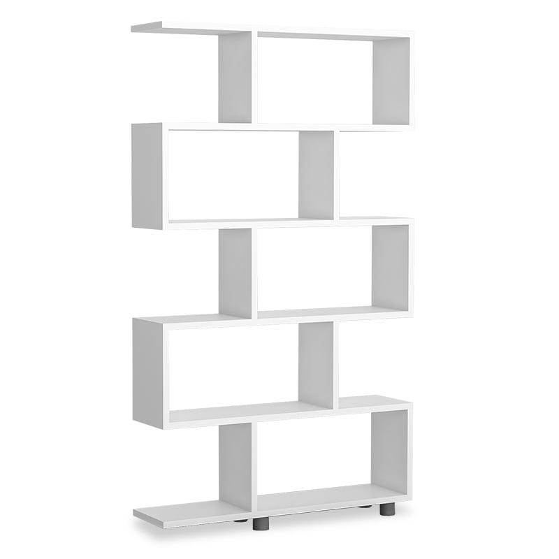 Βιβλιοθήκη PWF-0233 90x20x156 071-000578 White Pakketo