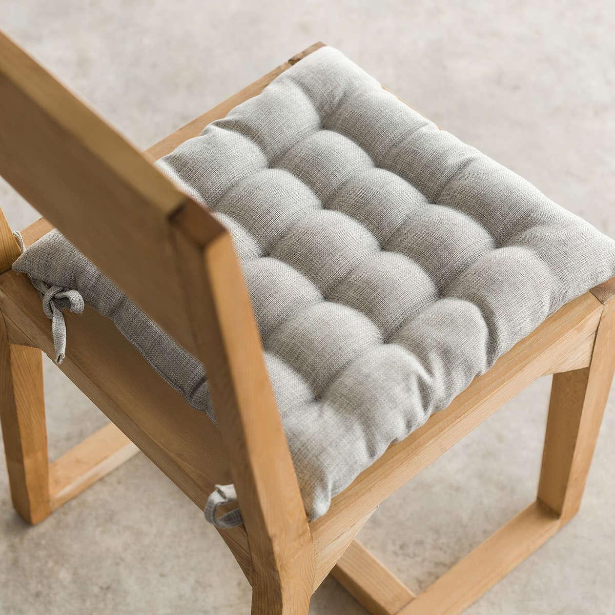 Μαξιλάρι Καρέκλας Hygg Light Grey 213/15 Gofis Home 40Χ40 40x40cm