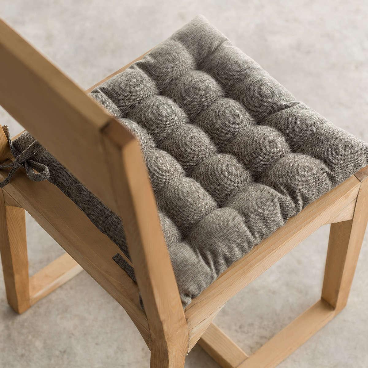 Μαξιλάρι Καρέκλας Hygg Dark Grey 213/14 Gofis Home 40Χ40 40x40cm