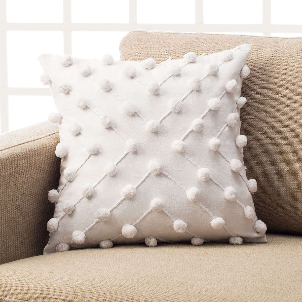 Μαξιλαροθήκη Διακοσμητική Arty Cloud White 187/16 Gofis Home 45X45 100% Βαμβάκι