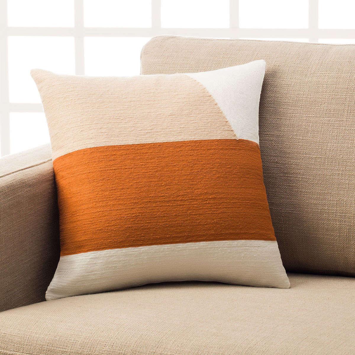 Μαξιλαροθήκη Διακοσμητική Emery Orange 295/03 Gofis Home 45X45 100% Polyester