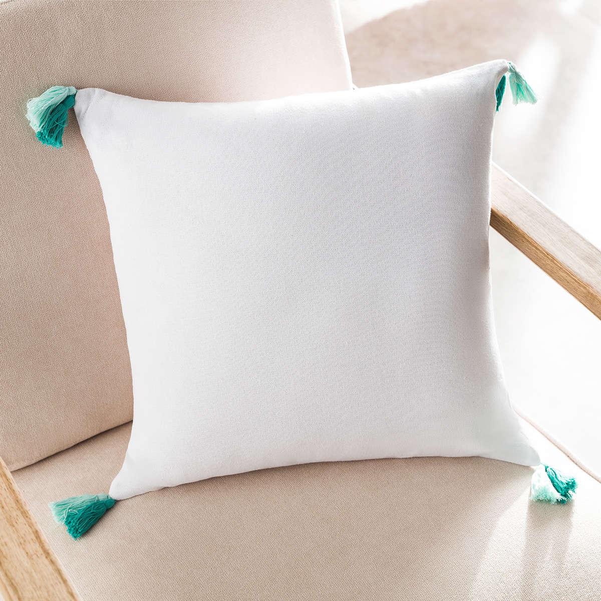 Μαξιλαροθήκη Διακοσμητική Rib White 303/16 Gofis Home 45X45 100% Βαμβάκι