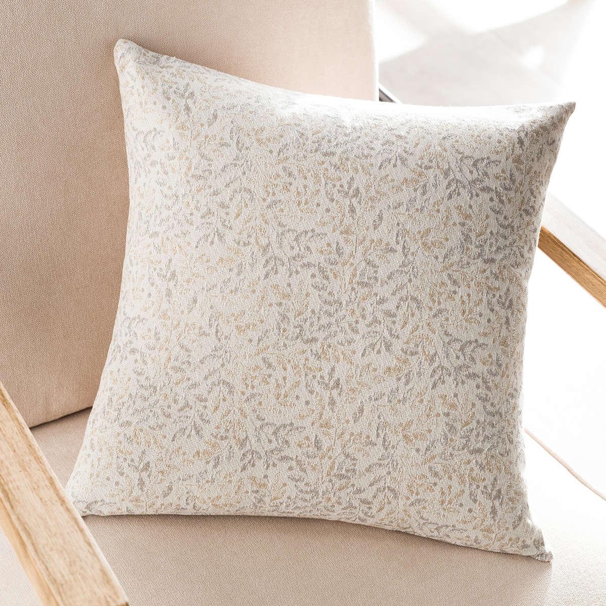 Μαξιλαροθήκη Διακοσμητική Delicate Coord Grey 904B/15 Gofis Home 50X50 Βαμβάκι-Polyester