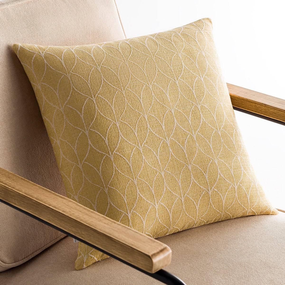 Μαξιλαροθήκη Διακοσμητική Lumien Mustard 517/04 Gofis Home 50X50 Βαμβάκι-Polyester