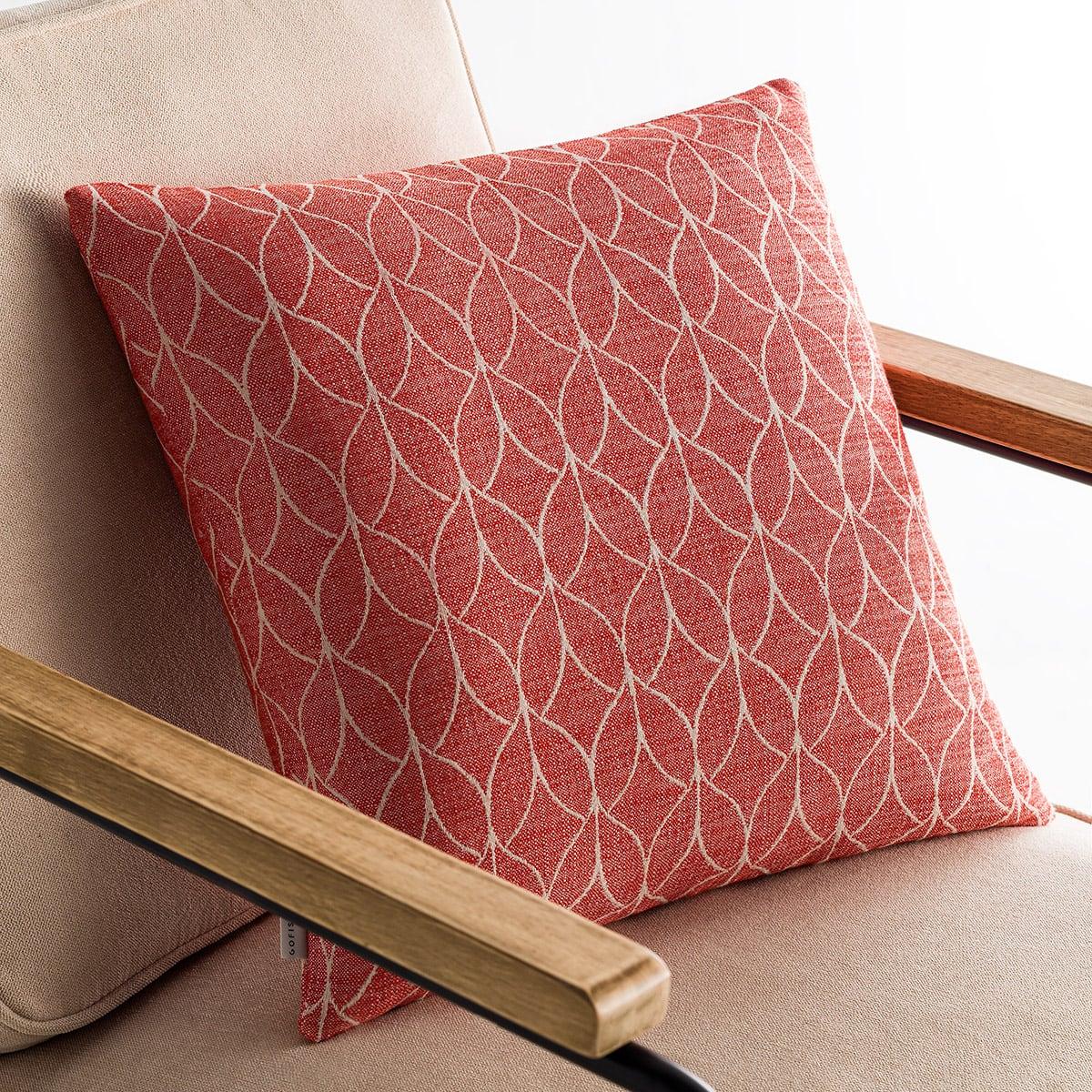 Μαξιλαροθήκη Διακοσμητική Lumien Red 517/02 Gofis Home 50X50 Βαμβάκι-Polyester