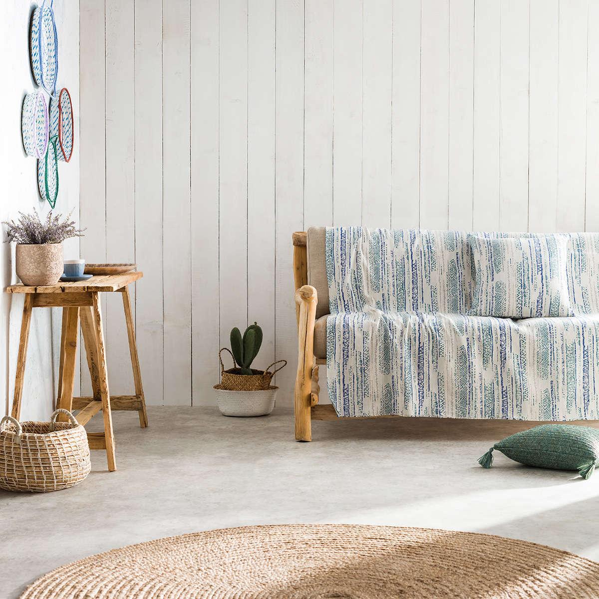 Ριχτάρι Flair Blue 857/01 Gofis Home Διθέσιο 180x250cm