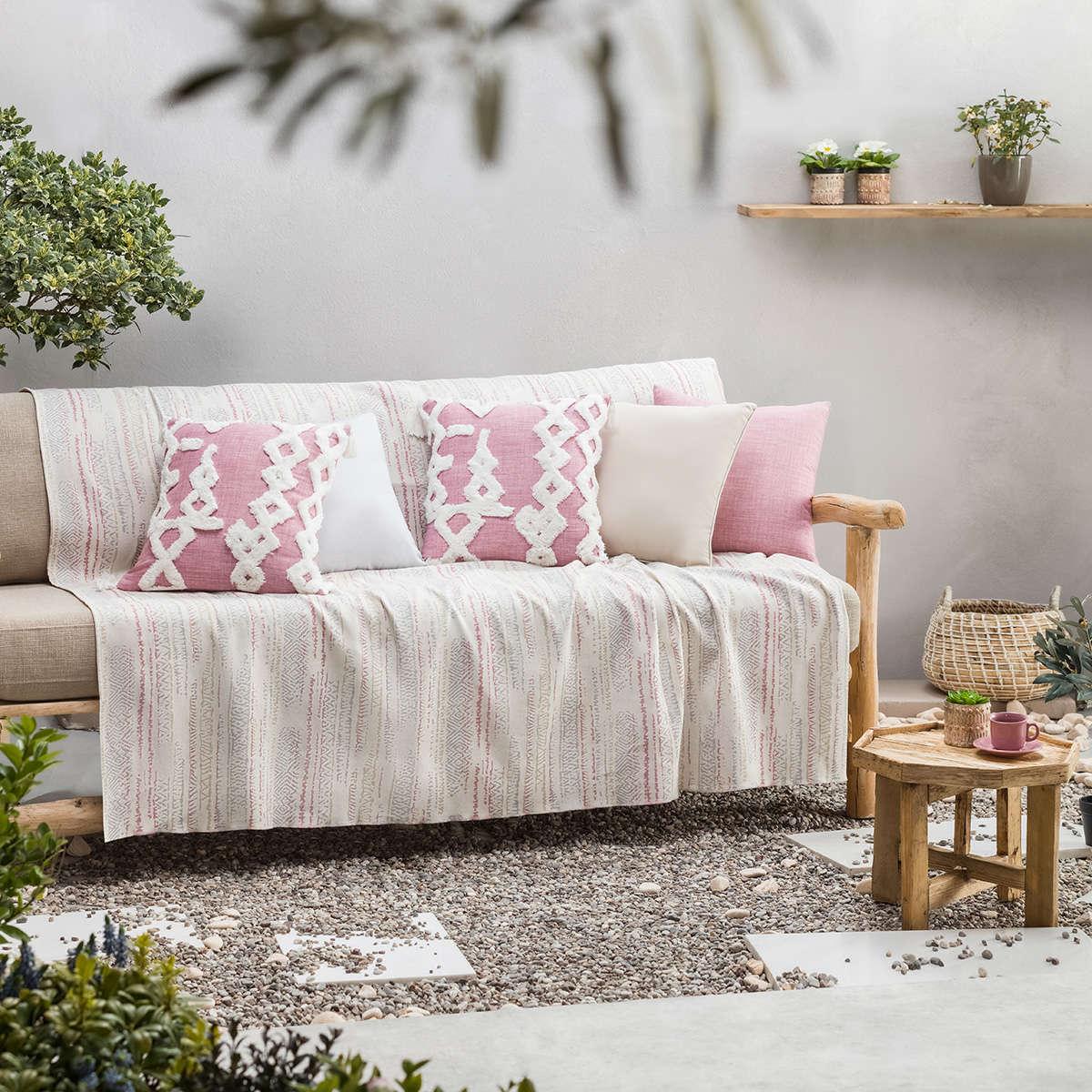 Ριχτάρι Flair Pink/Grey 857/17 Gofis Home Διθέσιο 180x250cm