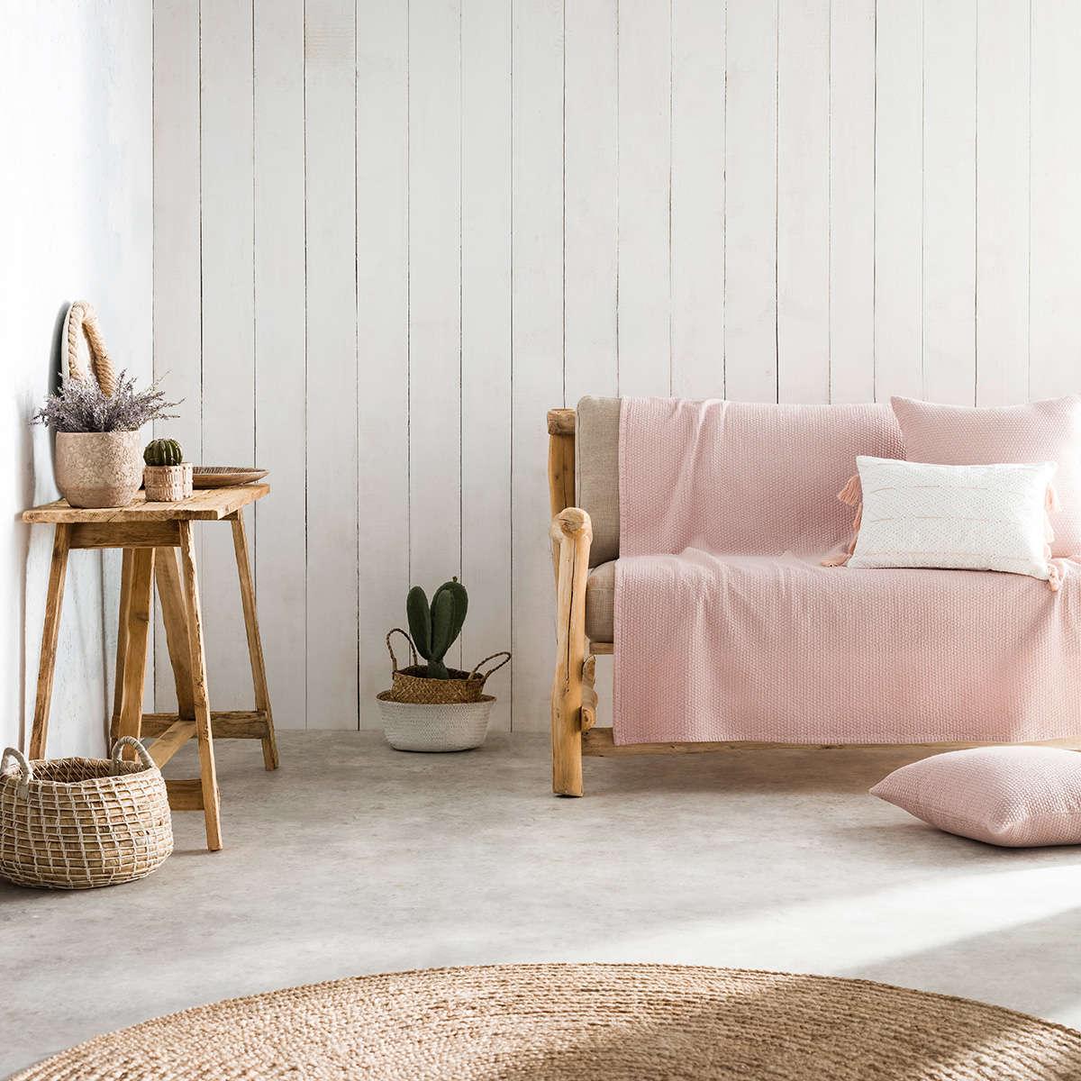 Ριχτάρι Powder Pink 283/17 Gofis Home Τριθέσιο 180x310cm