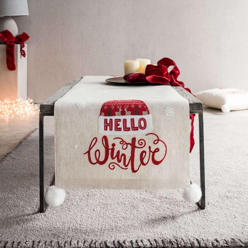 Runner Χριστουγεννιάτικο 777A Beige-Red Gofis Home 40Χ150 40x160cm