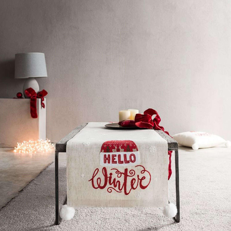 Runner Χριστουγεννιάτικο 777B Beige-Red Gofis Home 40Χ150 40x120cm