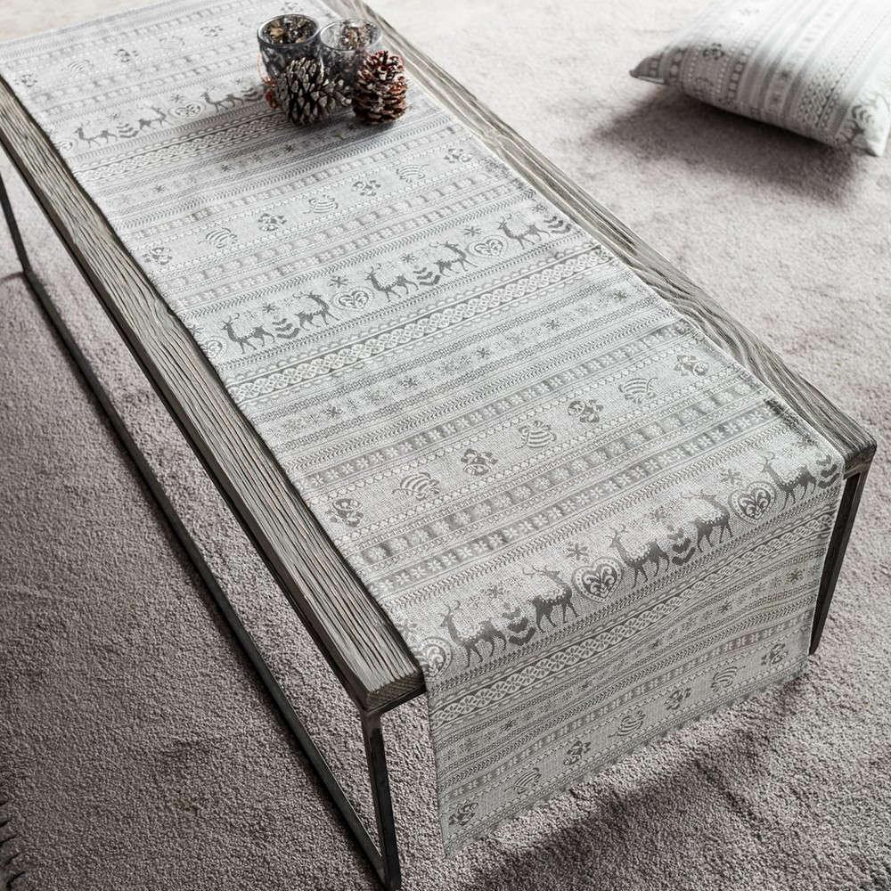 Runner Χριστουγεννιάτικο 807/15 Grey Gofis Home 40Χ150 40x160cm