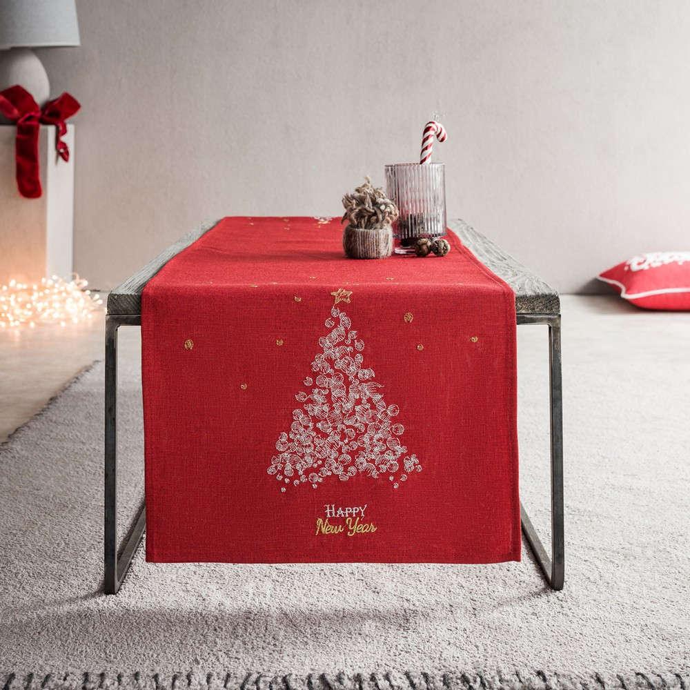 Runner Χριστουγεννιάτικο 977A/02 Red Gofis Home 40Χ150 40x160cm