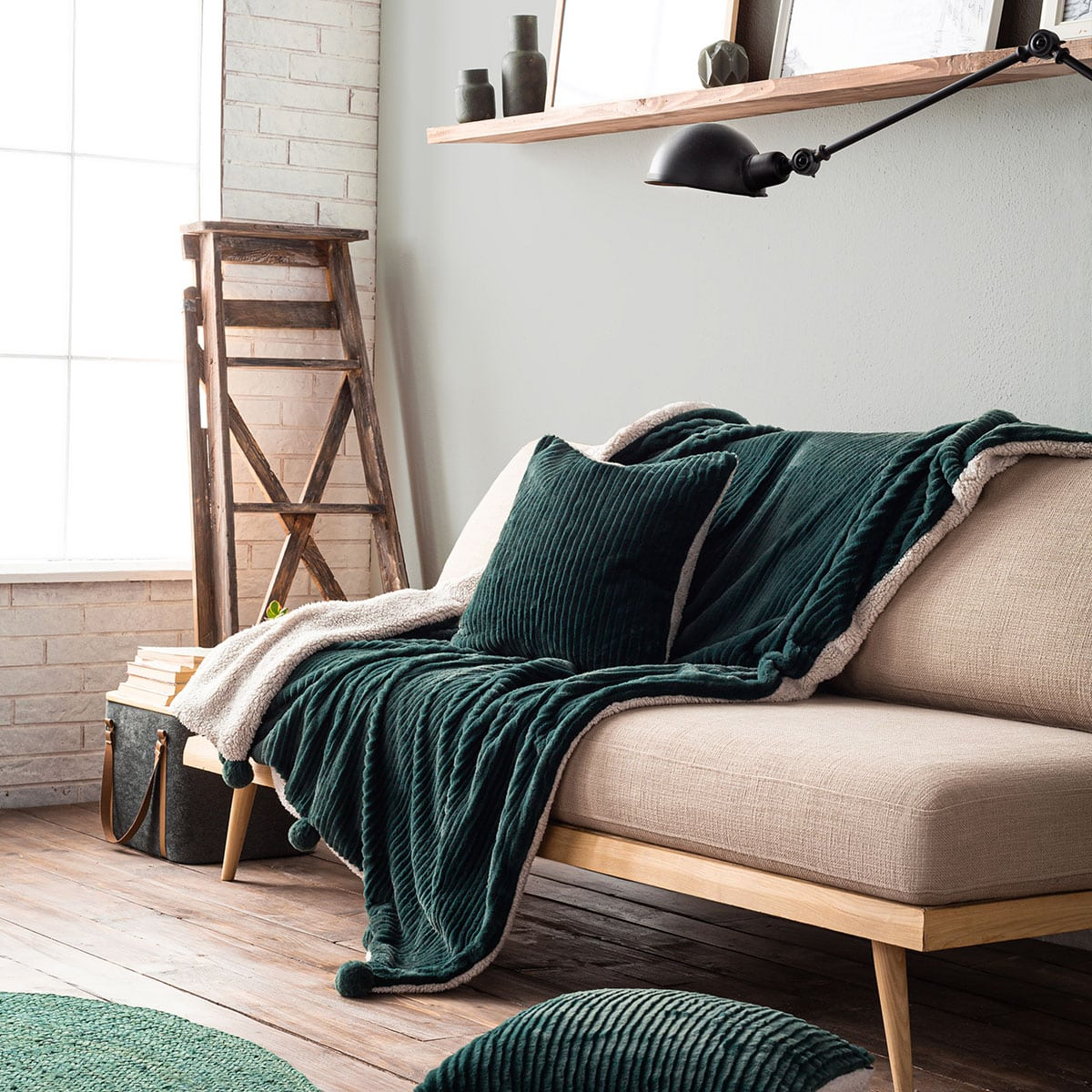Κουβέρτα Καναπέ Softy 478/18 Petrol Gofis Home 150X180 130x155cm