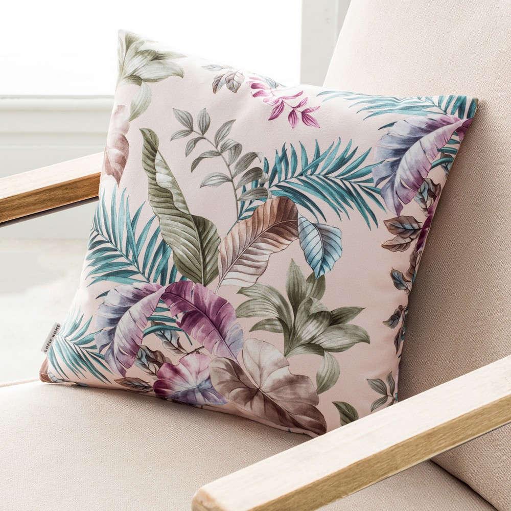 Μαξιλαροθήκη Διακοσμητική 106/25 Evelin Powder Pink Gofis Home 45X45 100% Polyester