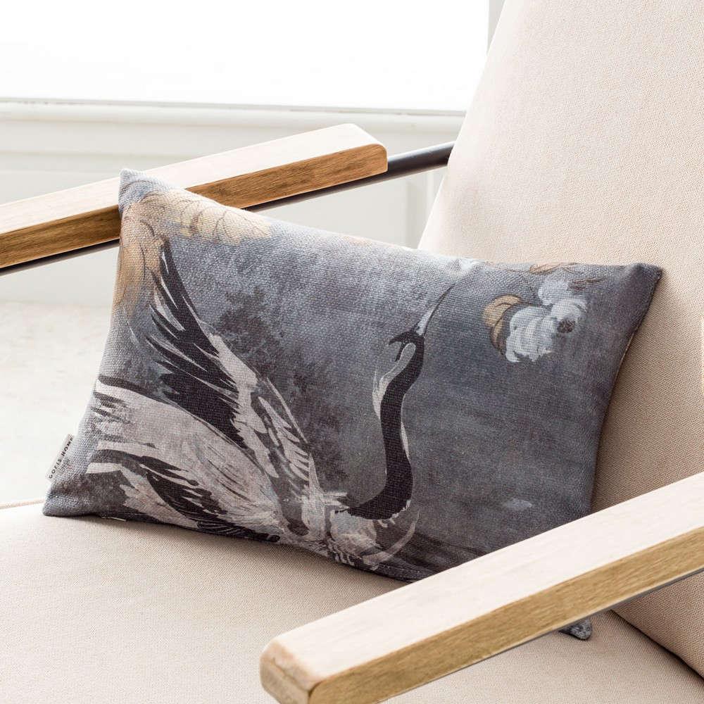 Μαξιλαροθήκη Διακοσμητική 697 Tomy Grey Gofis Home 30Χ50 100% Βαμβάκι