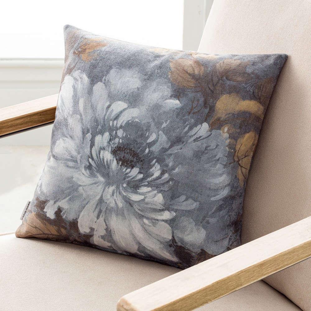 Μαξιλαροθήκη Διακοσμητική 792 Moon Flower Grey Gofis Home 45X45 100% Βαμβάκι