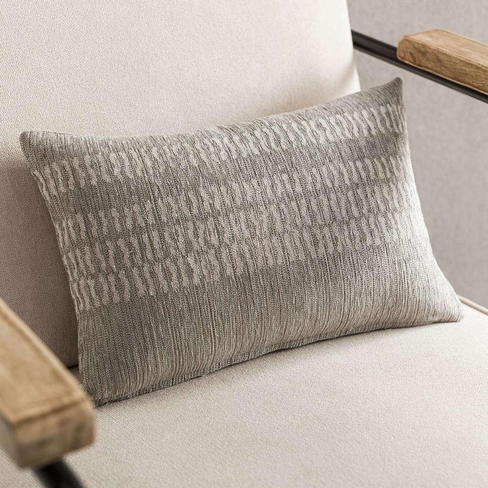 Μαξιλαροθήκη Διακοσμητική Calma 395B/15 Calma Grey Gofis Home 30Χ50 Βαμβάκι-Ακρυλικό