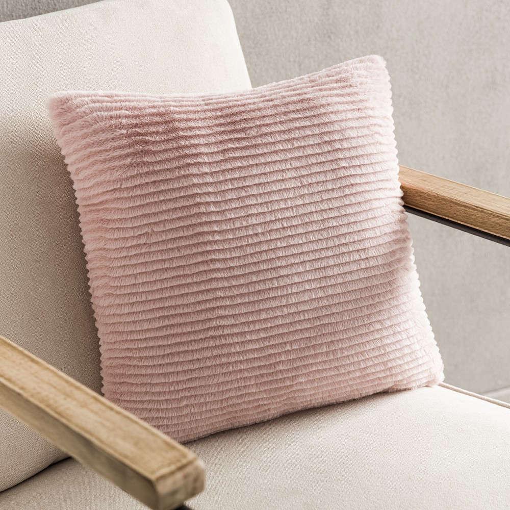 Μαξιλαροθήκη Διακοσμητική Softy 478/17 Peach Pink Gofis Home 45X45 100% Polyester