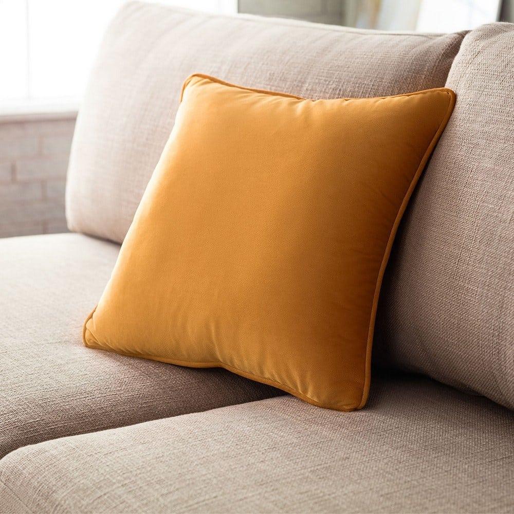Μαξιλαροθήκη Διακοσμητική Winter 711A/ 04 Ocher Gofis Home 45X45 100% Polyester