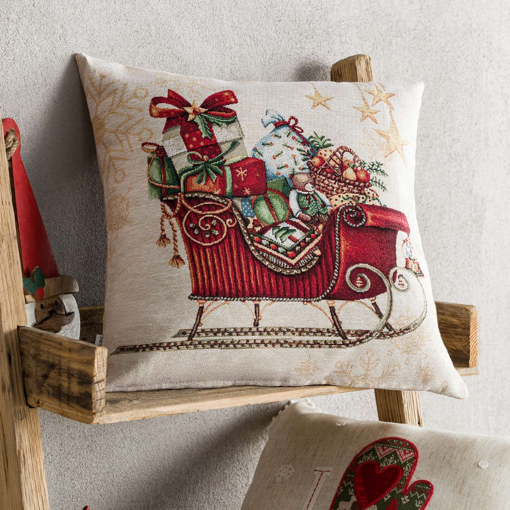 Μαξιλαροθήκη Διακοσμητική Χριστουγεννιάτικη 693 Red Gofis Home 45X45 43x43cm