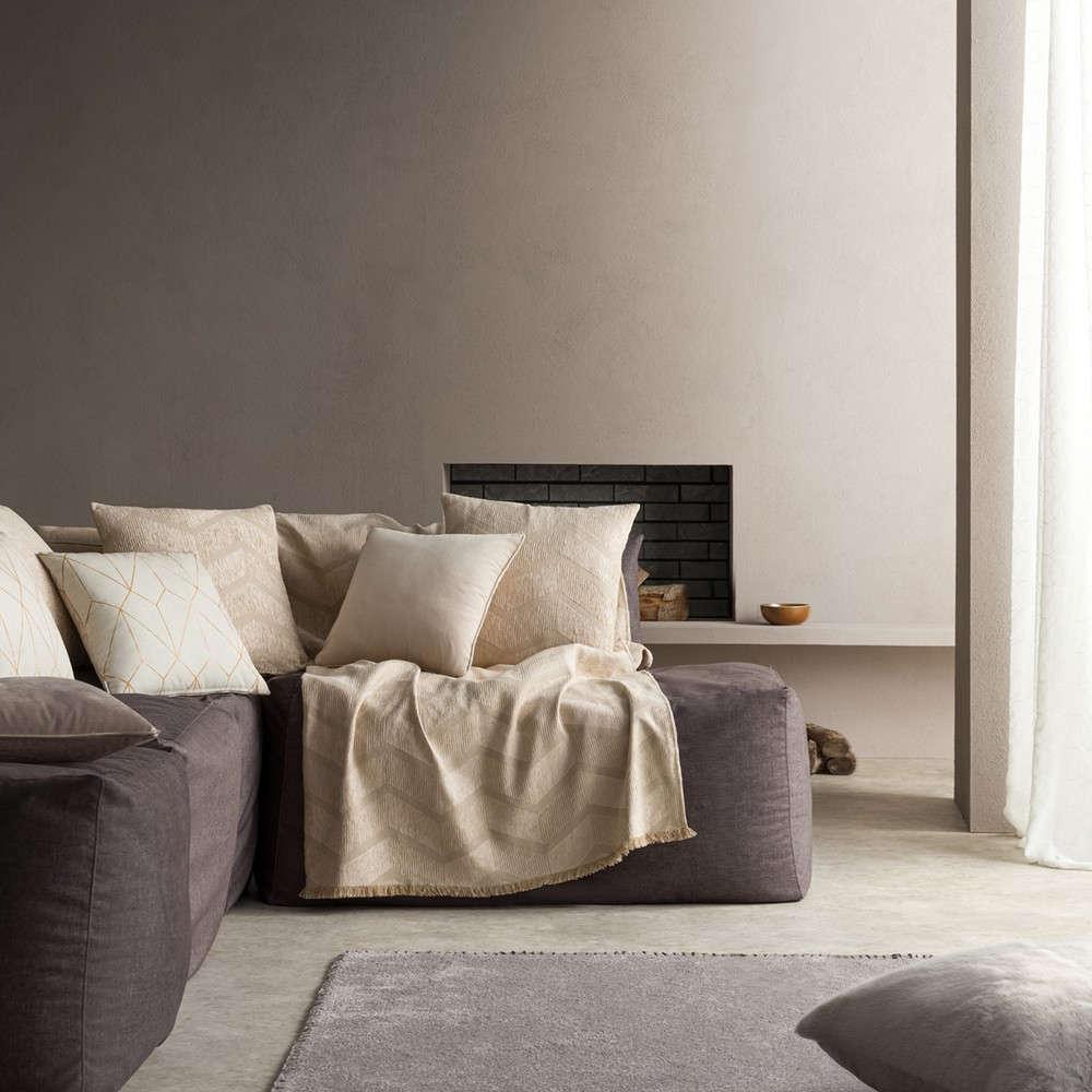 Ριχτάρι Linge 886/06 Beige Gofis Home Τετραθέσιο 180x350cm