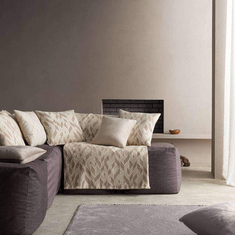 Ριχτάρι Niagra 842/05 Ecru-Brown Gofis Home Πολυθρόνα 180x180cm