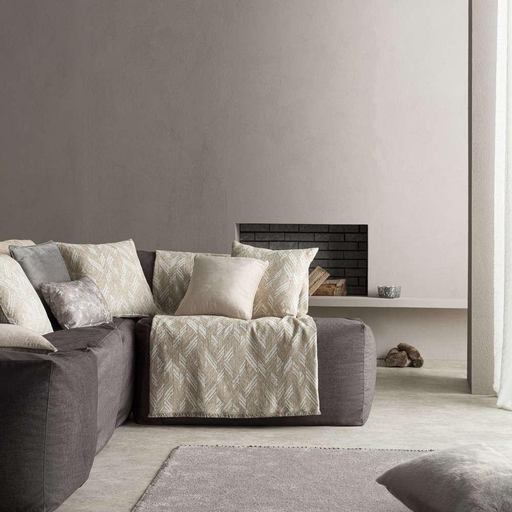 Ριχτάρι Niagra 842/06 Beige Gofis Home Τετραθέσιο 180x350cm